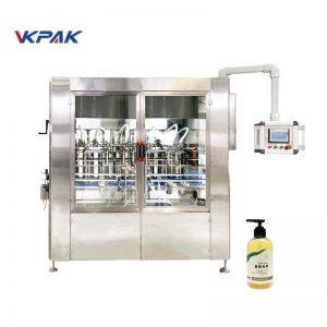 Автоматическая линейная машина для розлива жидкого мыла с сервоприводом